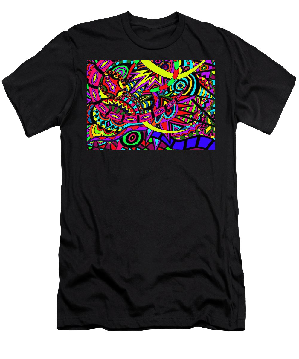 Migrain Men's T-Shirt (Athletic Fit) featuring the painting Hold On by Karen Elzinga