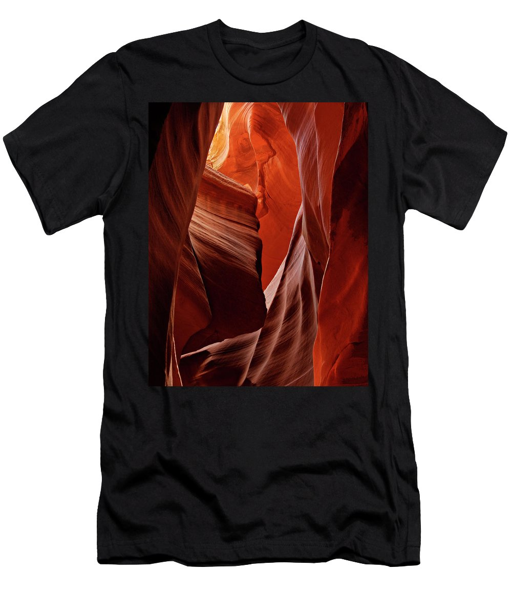 Lower Antelope Canyon Men's T-Shirt (Athletic Fit) featuring the photograph Lower Antelope Canyon by Dave Mills