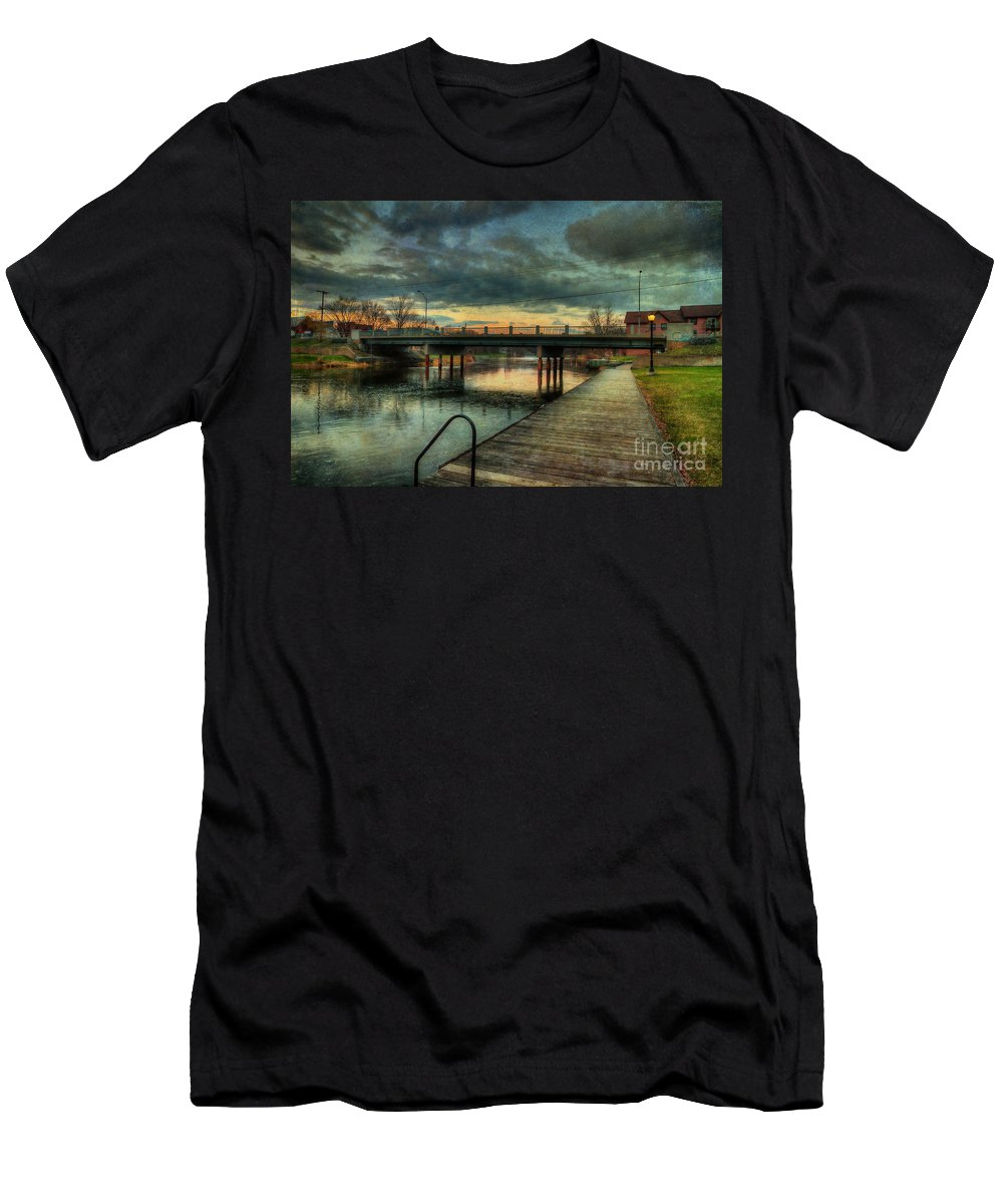 Acrylic Prints Men's T-Shirt (Athletic Fit) featuring the photograph Napanee Harbour by John Herzog