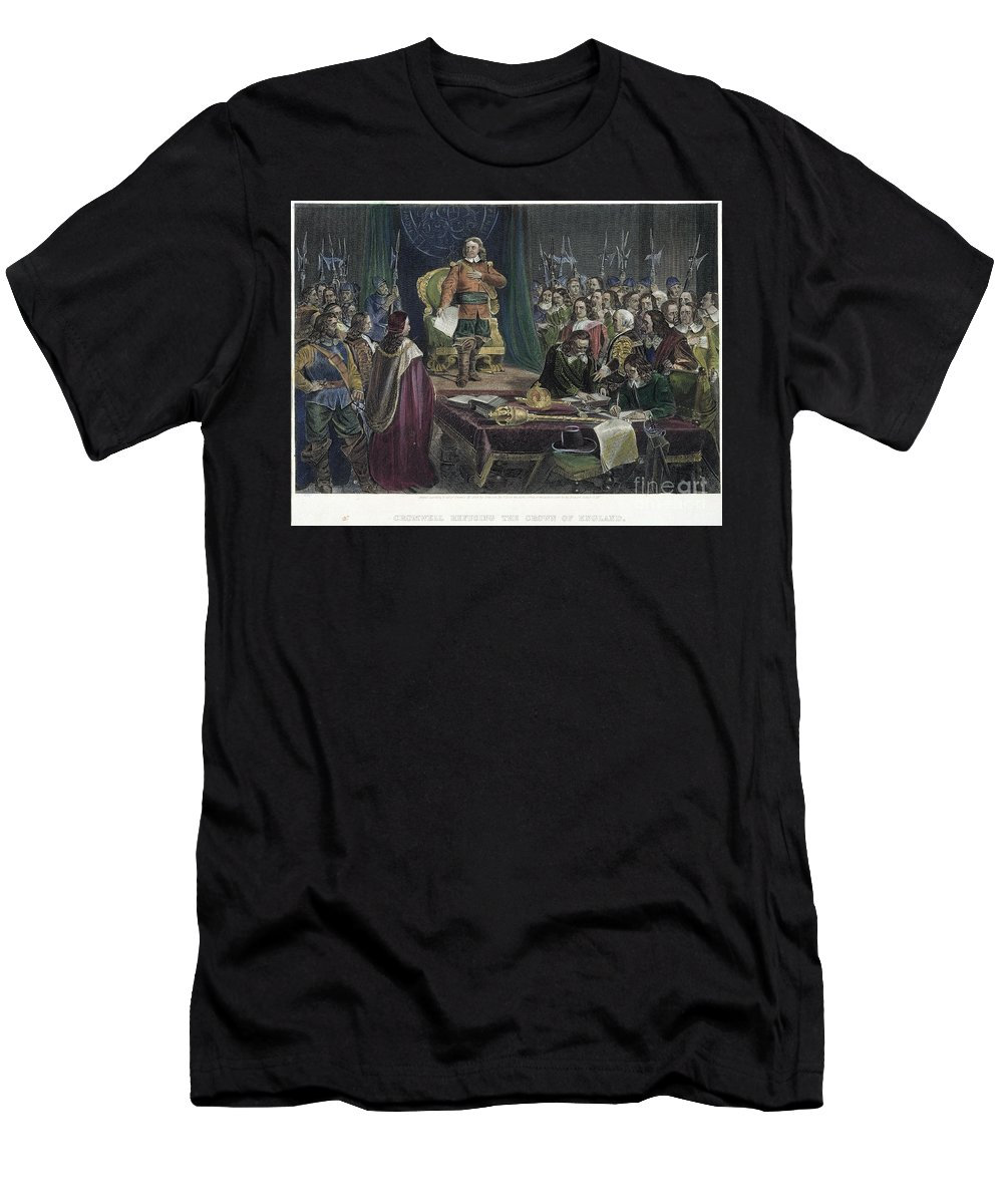 Assembly Men's T-Shirt (Athletic Fit) featuring the photograph Oliver Cromwell by Granger