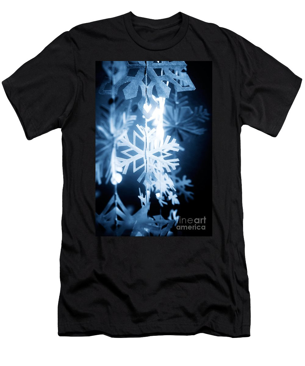 Abstract Men's T-Shirt (Athletic Fit) featuring the photograph Paper Snowflake by Kati Finell