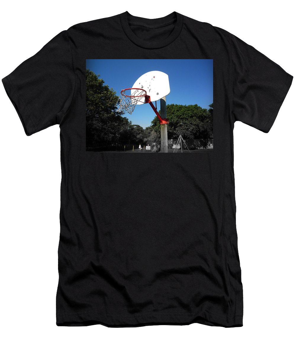 Basket Ball Men's T-Shirt (Athletic Fit) featuring the photograph Play by Charles Stuart