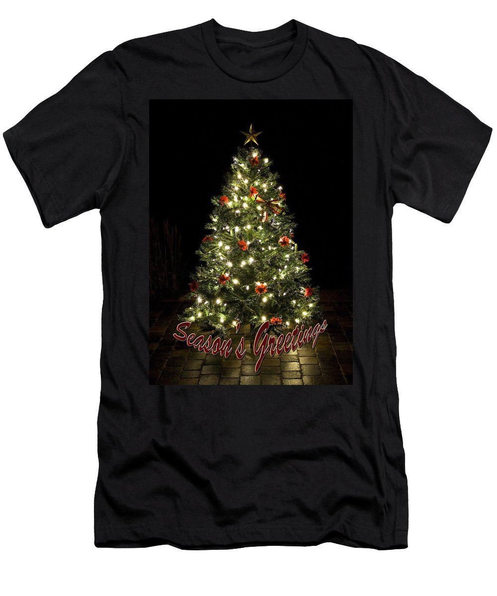 Tree Men's T-Shirt (Athletic Fit) featuring the photograph Season's Greetings by Jeff Galbraith