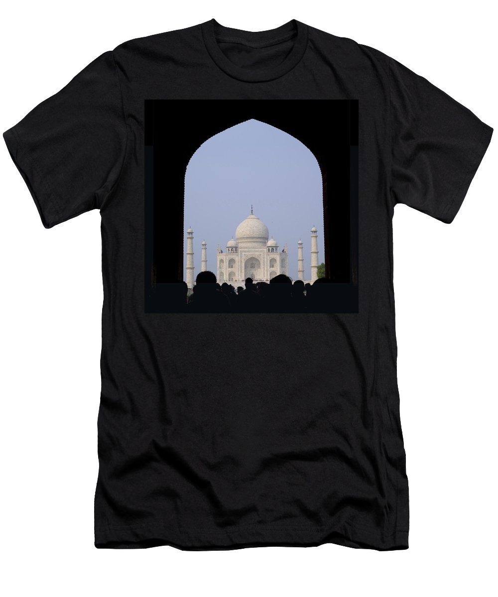 Architectural Men's T-Shirt (Athletic Fit) featuring the photograph Taj Mahal, Agra India by Keith Levit