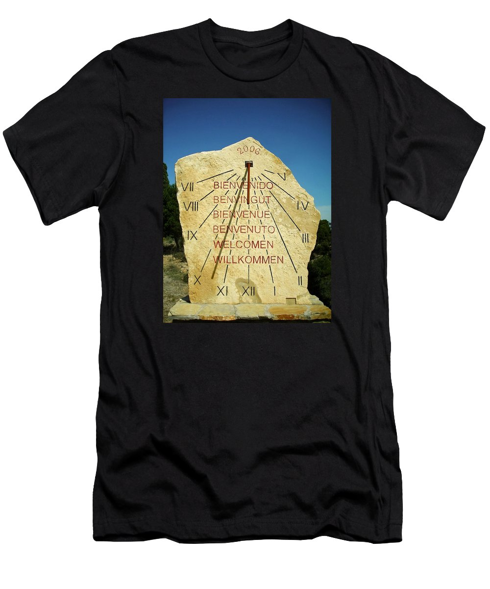 Espana Men's T-Shirt (Athletic Fit) featuring the photograph Time ... by Juergen Weiss