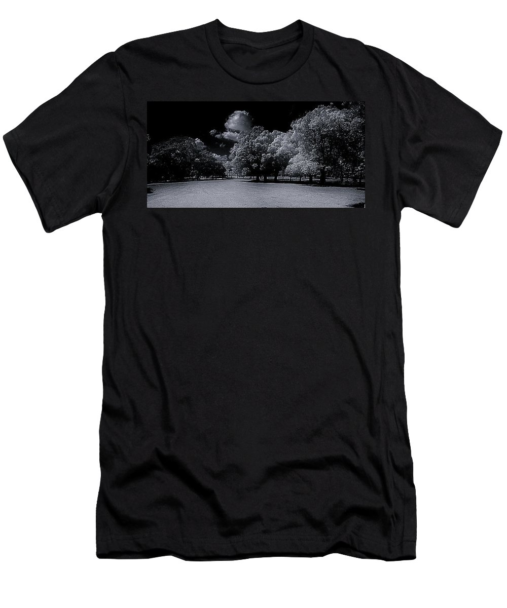 Men's T-Shirt (Athletic Fit) featuring the photograph Trees At The Carabobo Field by Galeria Trompiz