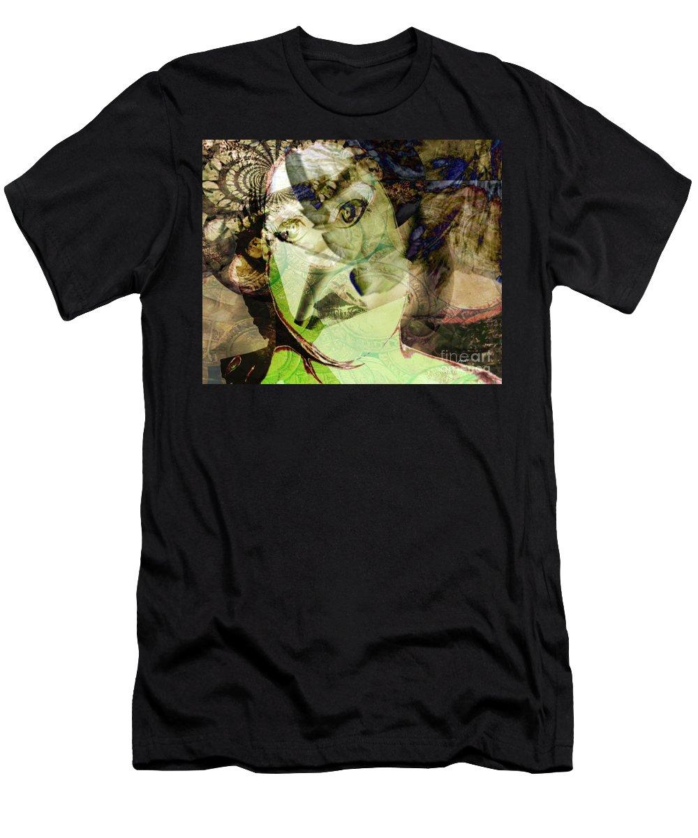 Fania Simon Men's T-Shirt (Athletic Fit) featuring the mixed media Vanity by Fania Simon