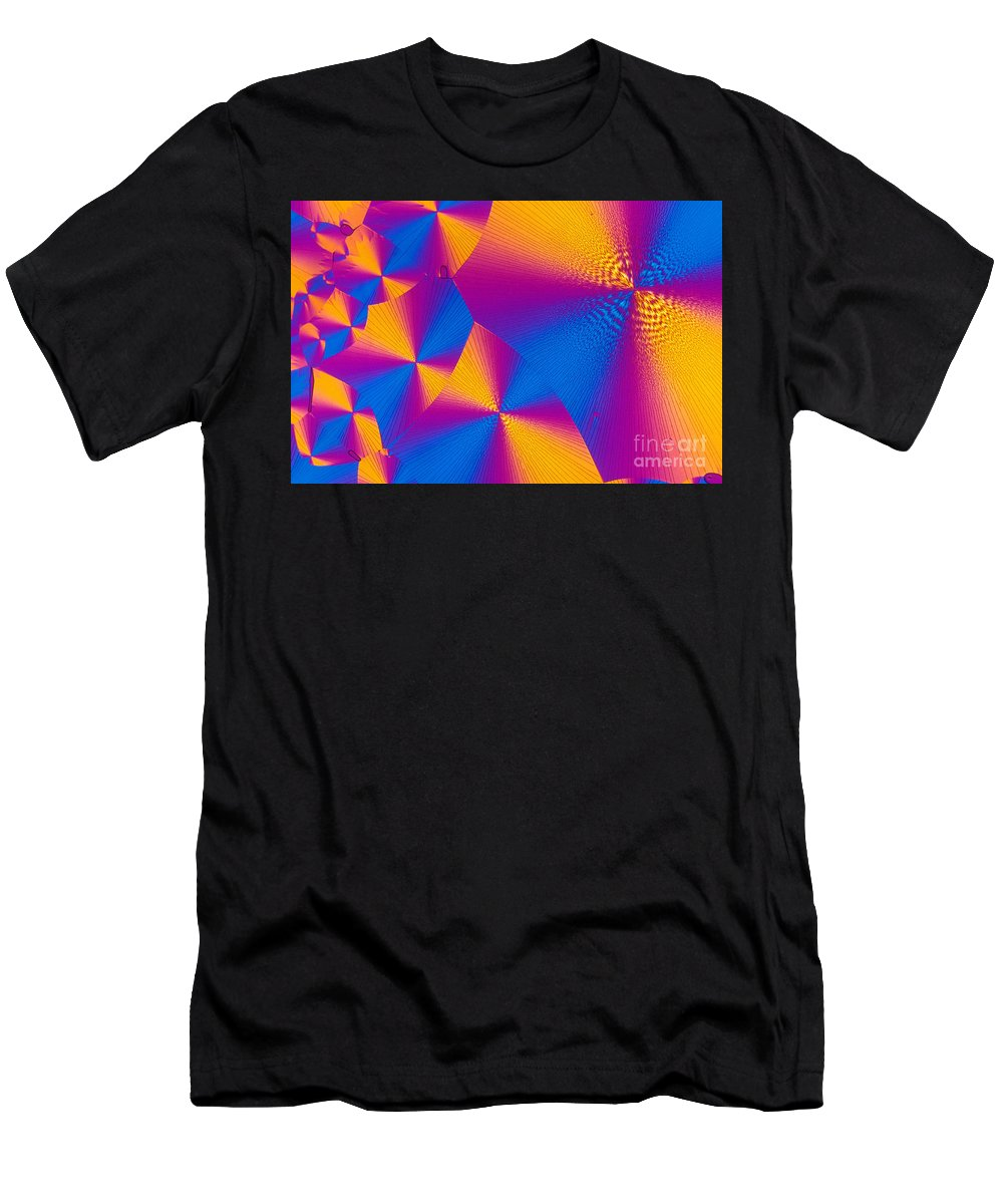 Chemistry Men's T-Shirt (Athletic Fit) featuring the photograph Vitamin H Crystal by Michael W Davidson