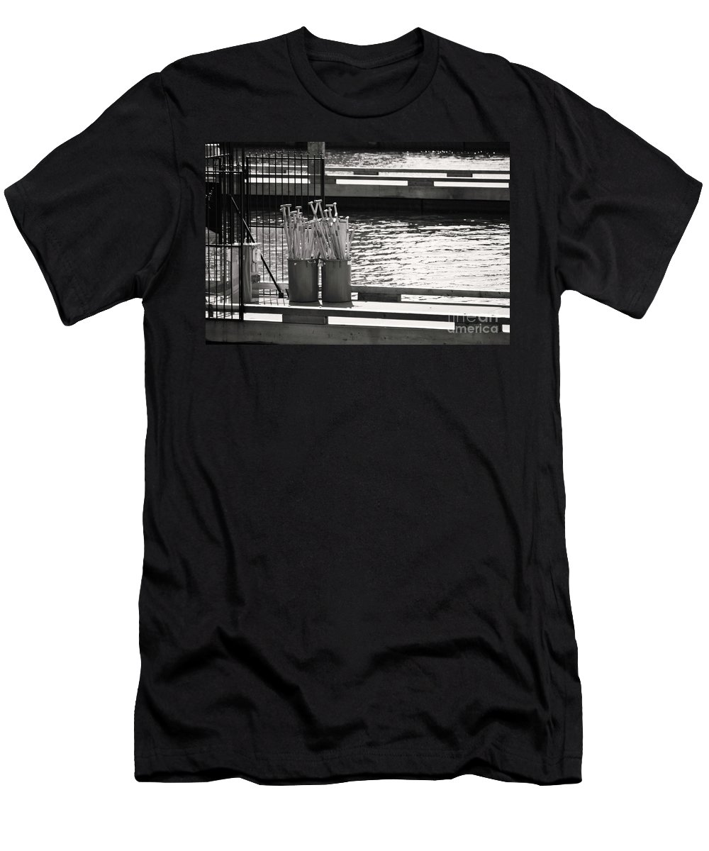 Dragon Boat Races Men's T-Shirt (Athletic Fit) featuring the photograph Waiting by Traci Cottingham