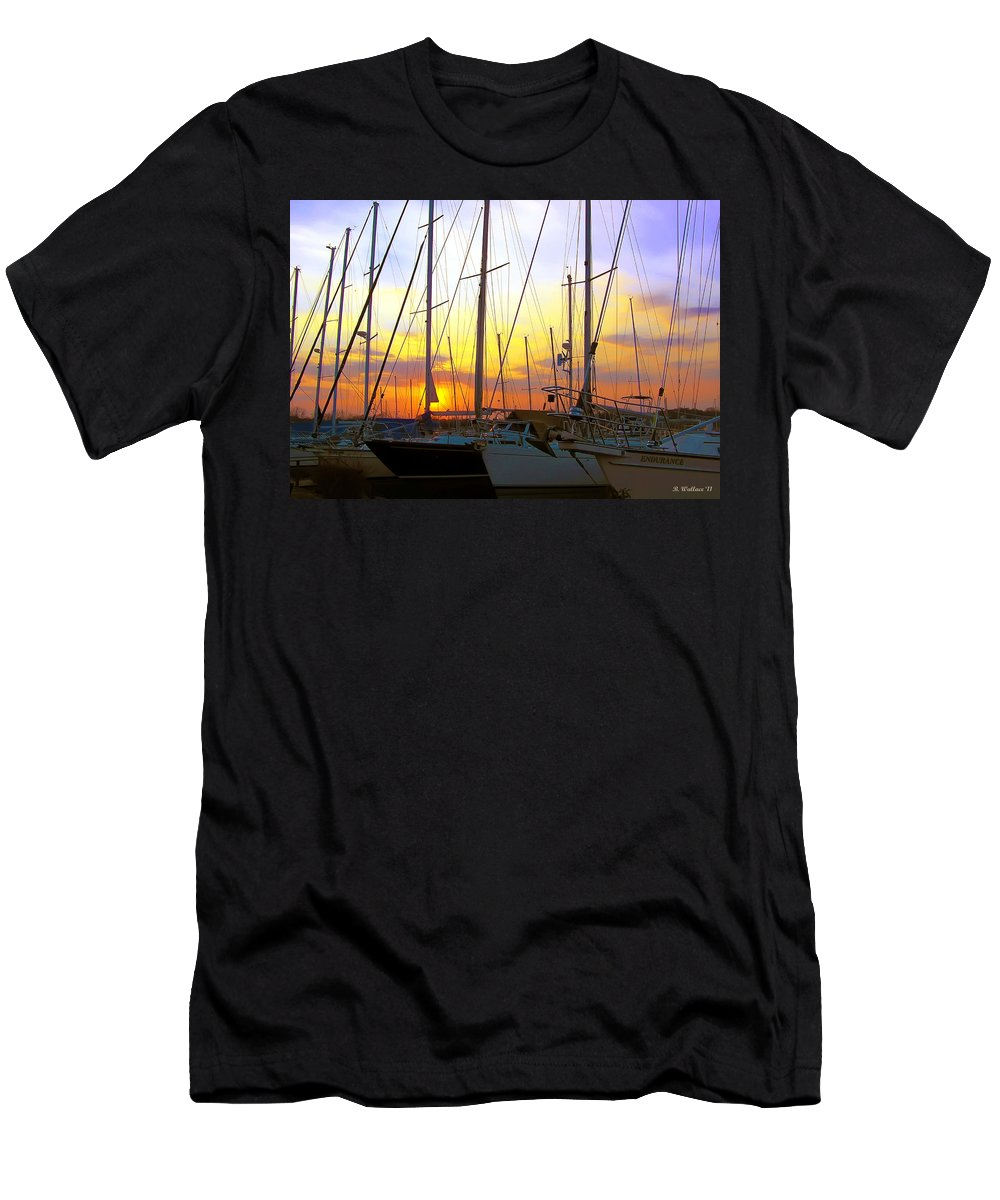 2d Men's T-Shirt (Athletic Fit) featuring the photograph White Rocks Marina Sunset by Brian Wallace