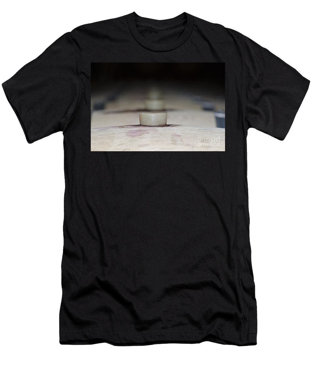 Wine Barrel Men's T-Shirt (Athletic Fit) featuring the photograph Wine Barrels by Mats Silvan
