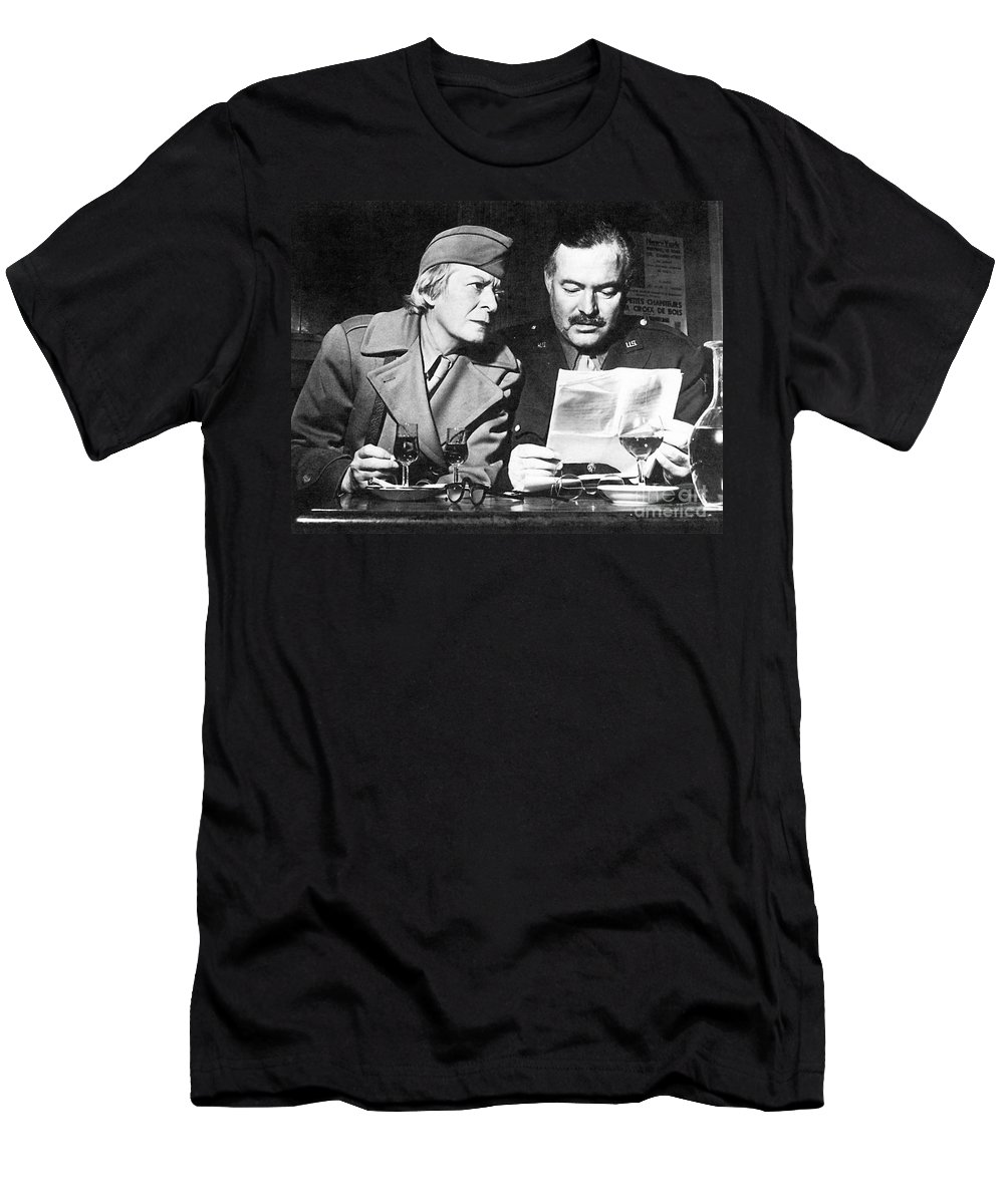 1945 Men's T-Shirt (Athletic Fit) featuring the photograph Ernest Hemingway by Granger