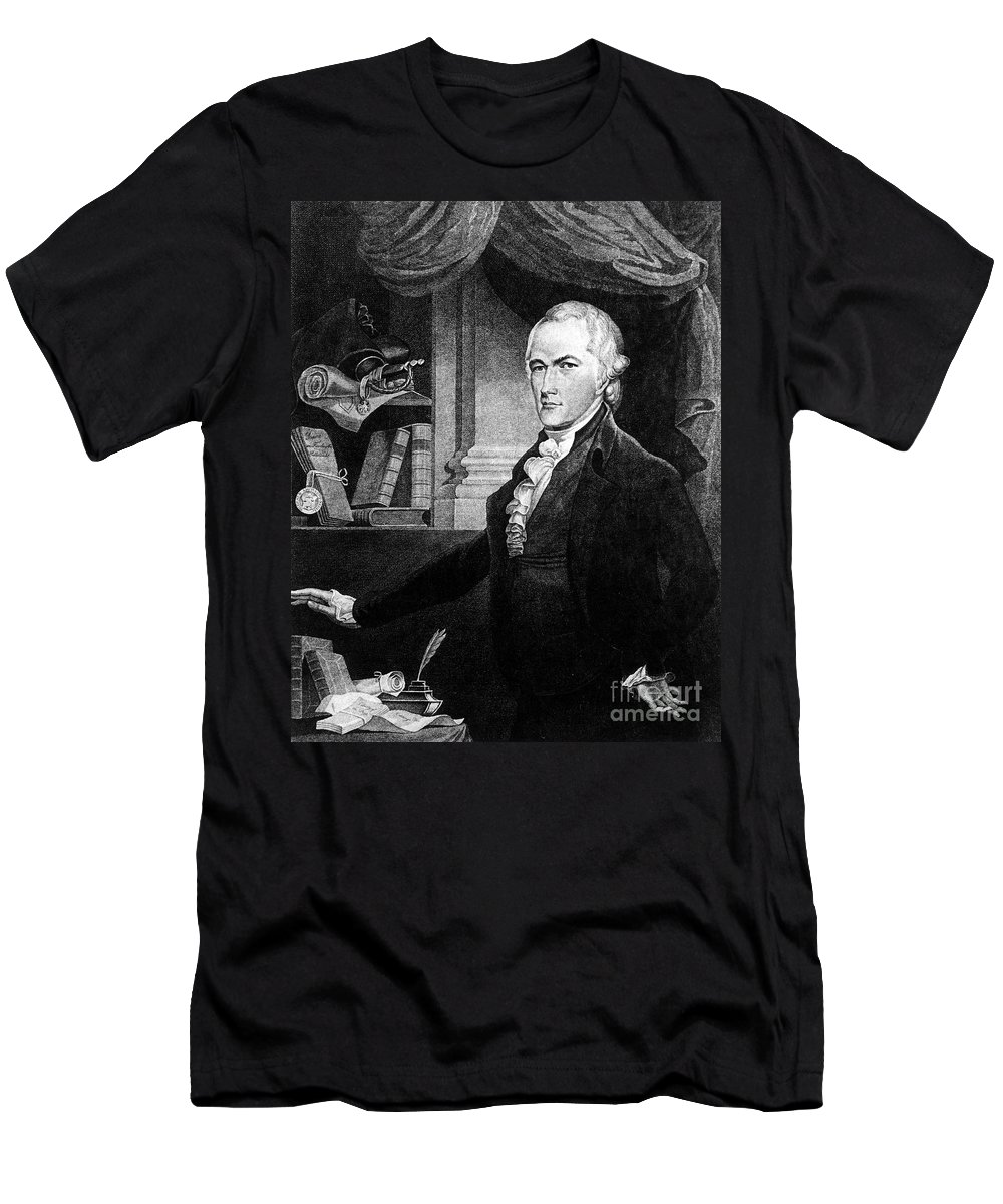 18th Century Men's T-Shirt (Athletic Fit) featuring the photograph Alexander Hamilton by Granger