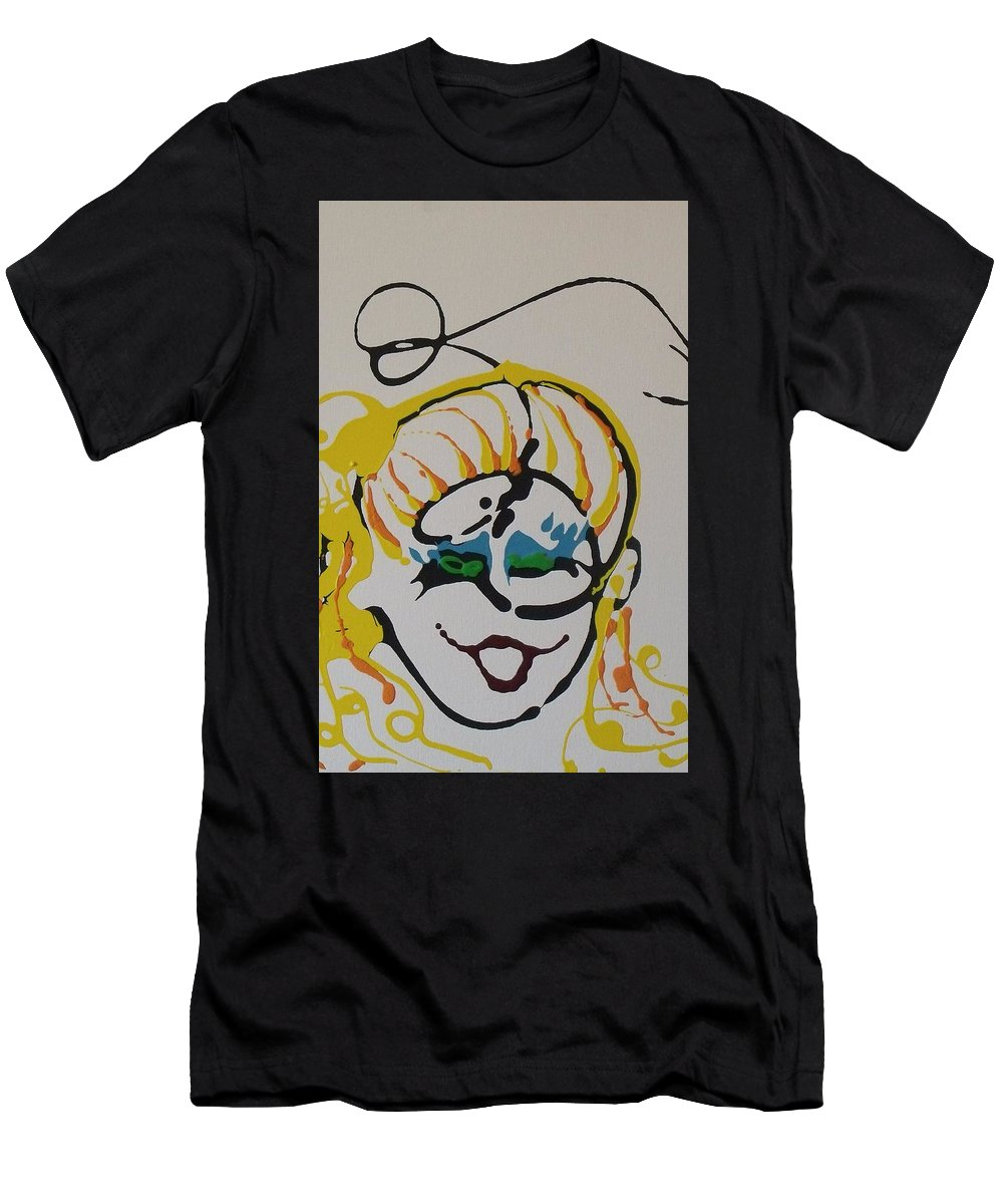 Blonde Men's T-Shirt (Athletic Fit) featuring the painting 1234 by Stefanie Beauregard