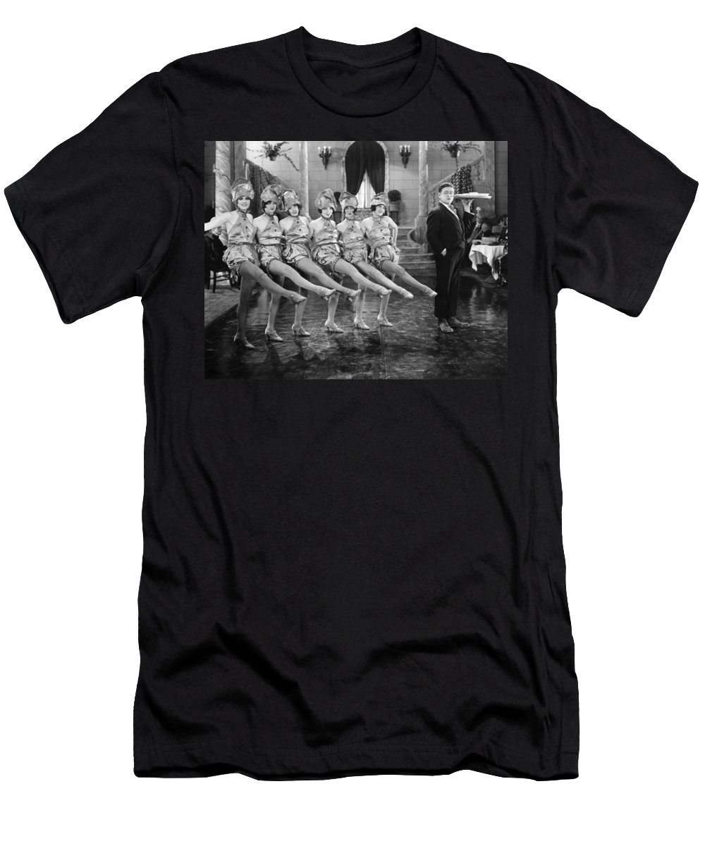 -dancing- Men's T-Shirt (Athletic Fit) featuring the photograph Silent Film Still: Dancing by Granger