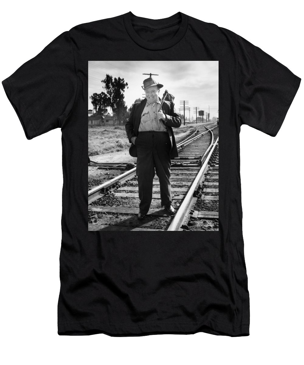 20th Century Men's T-Shirt (Athletic Fit) featuring the photograph Silent Film Still by Granger