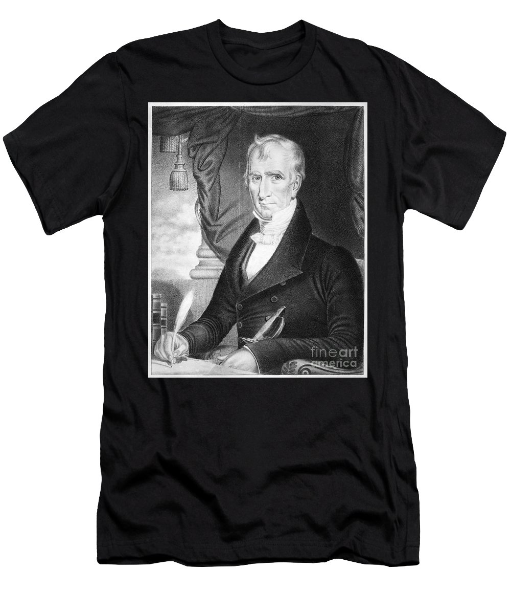 1841 Men's T-Shirt (Athletic Fit) featuring the photograph William Henry Harrison by Granger