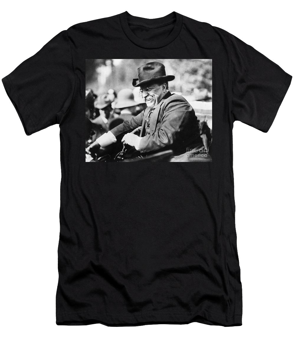 1910 Men's T-Shirt (Athletic Fit) featuring the photograph Theodore Roosevelt by Granger