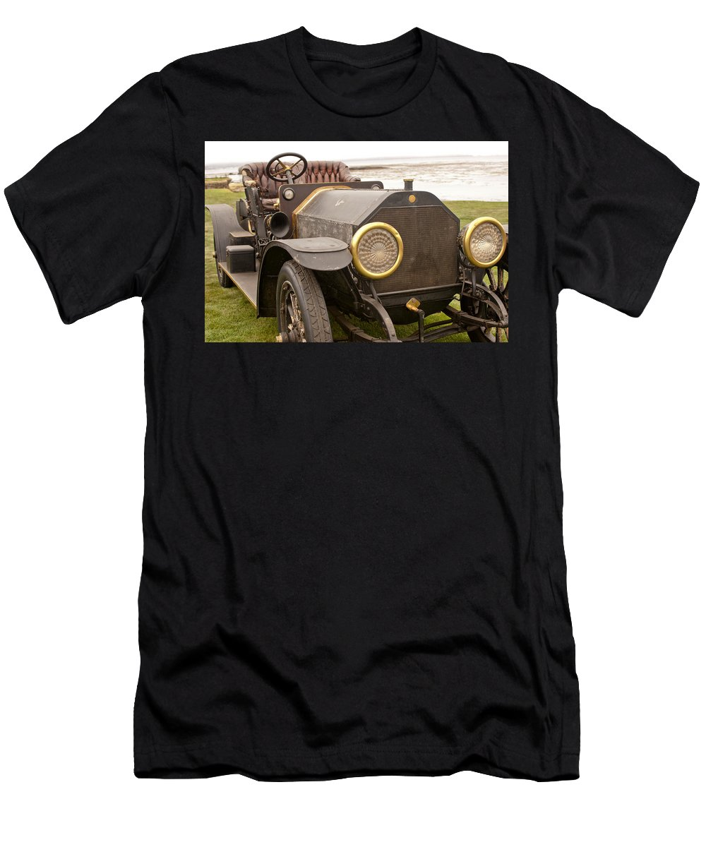 1907 Fiat Tipo 50-60 Hol-tan Men's T-Shirt (Athletic Fit) featuring the photograph 1907 Fiat Tipo 50-60 Hol-tan by Jill Reger
