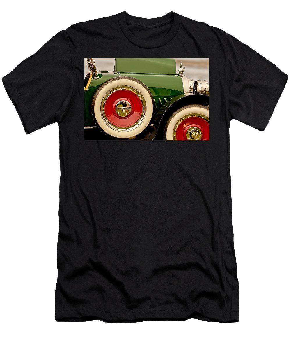 1919 Mcfarlan Type 125 Touring Men's T-Shirt (Athletic Fit) featuring the photograph 1919 Mcfarlan Type 125 Touring by Jill Reger