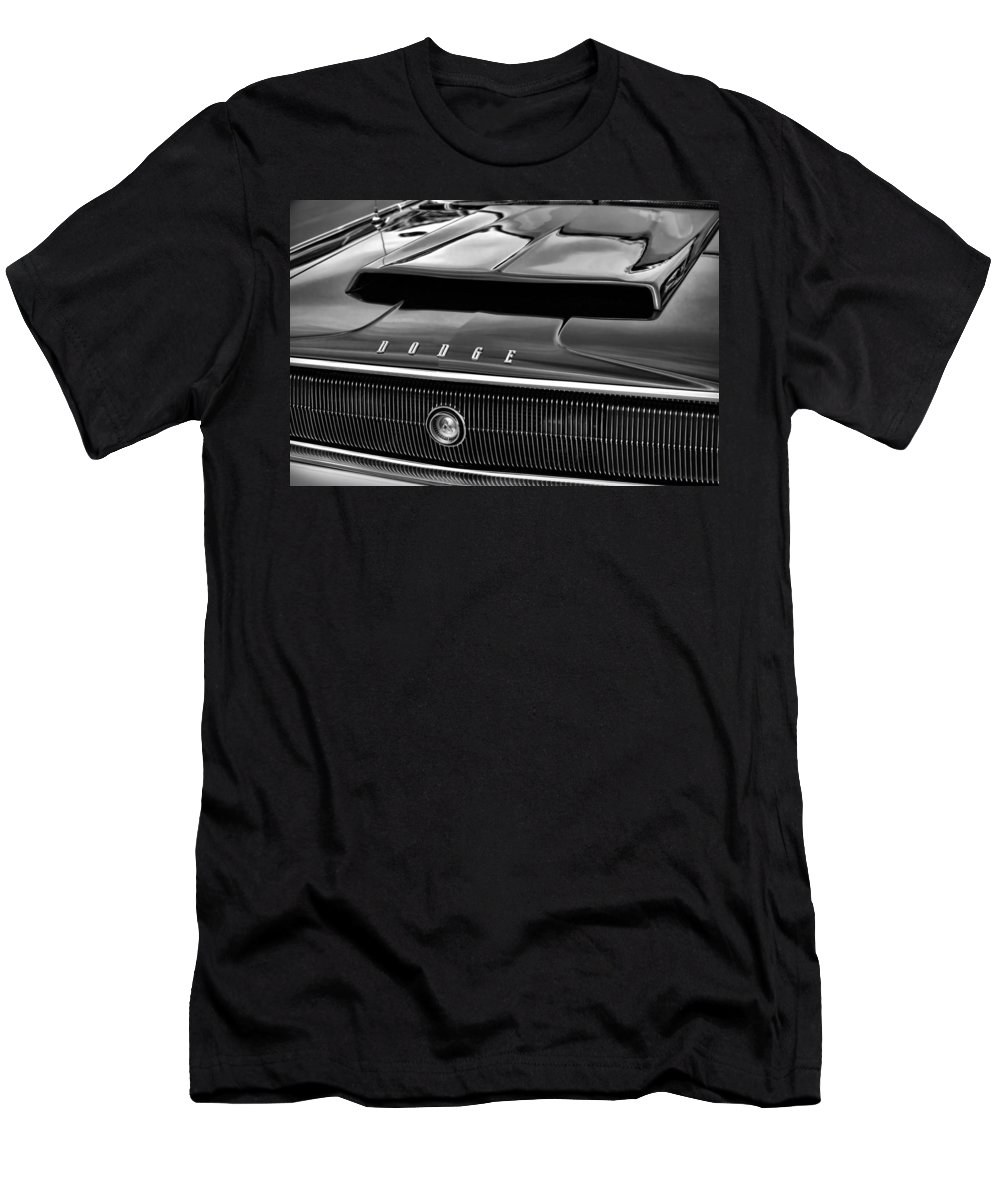 1966 Men's T-Shirt (Athletic Fit) featuring the photograph 1967 Dodge Charger Hood Scoop by Gordon Dean II