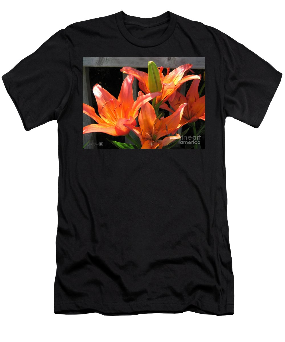 Asiatic Lily Men's T-Shirt (Athletic Fit) featuring the photograph Asiatic Lily Named Gran Paradiso by J McCombie