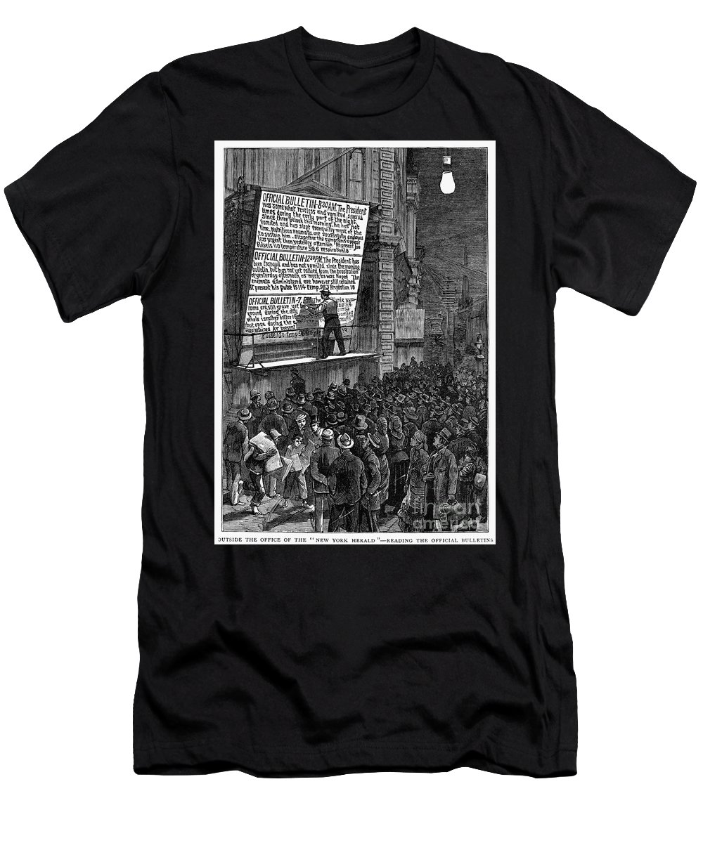1881 Men's T-Shirt (Athletic Fit) featuring the photograph Garfield: Assassination by Granger