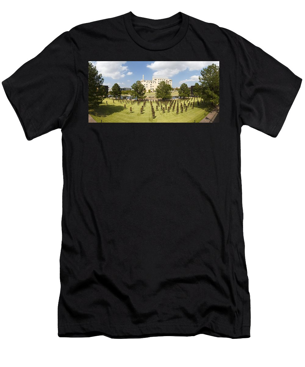 National Men's T-Shirt (Athletic Fit) featuring the photograph Oklahoma City National Memorial by Ricky Barnard