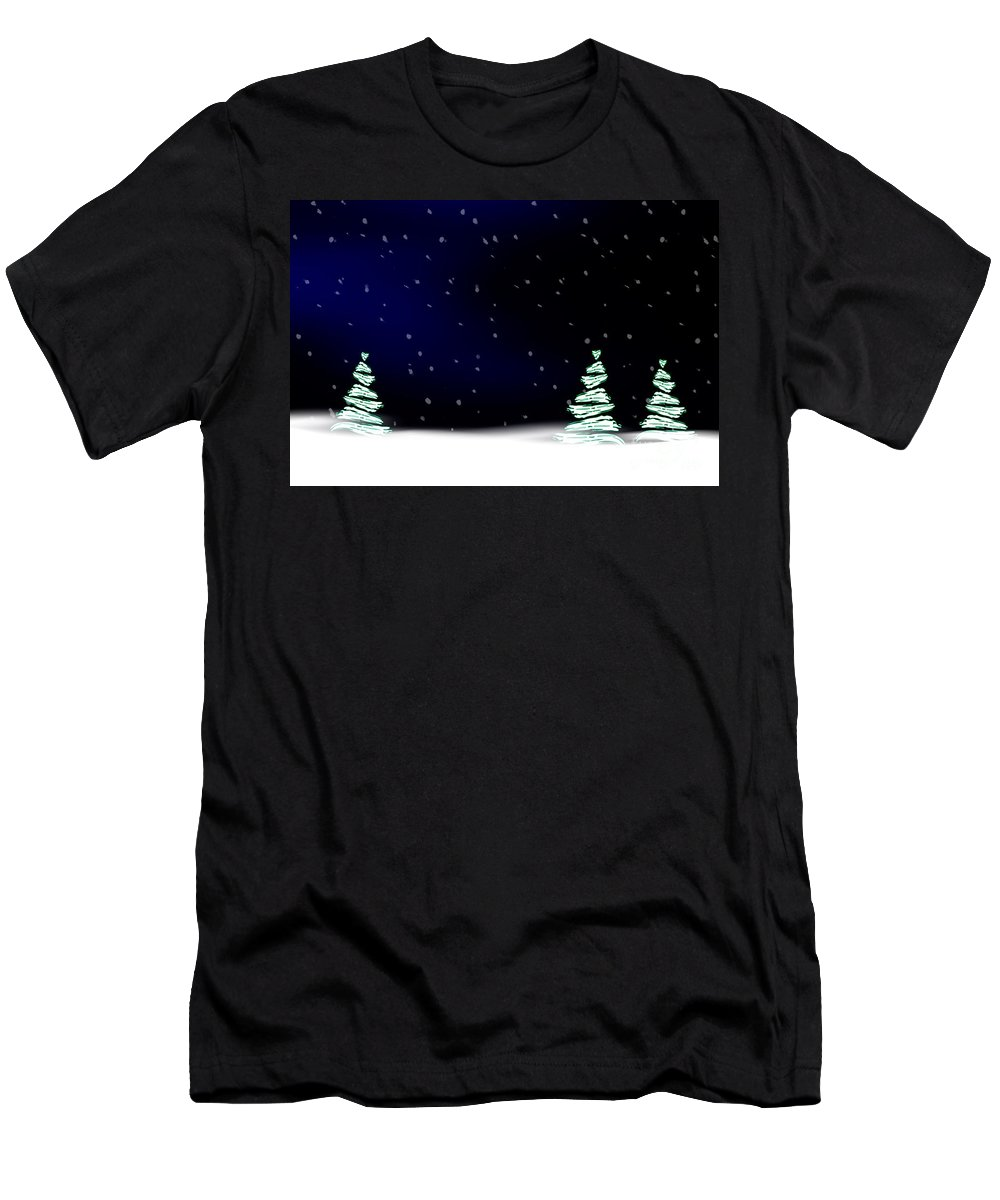 Winter Men's T-Shirt (Athletic Fit) featuring the photograph Winter Landscape by Kati Finell