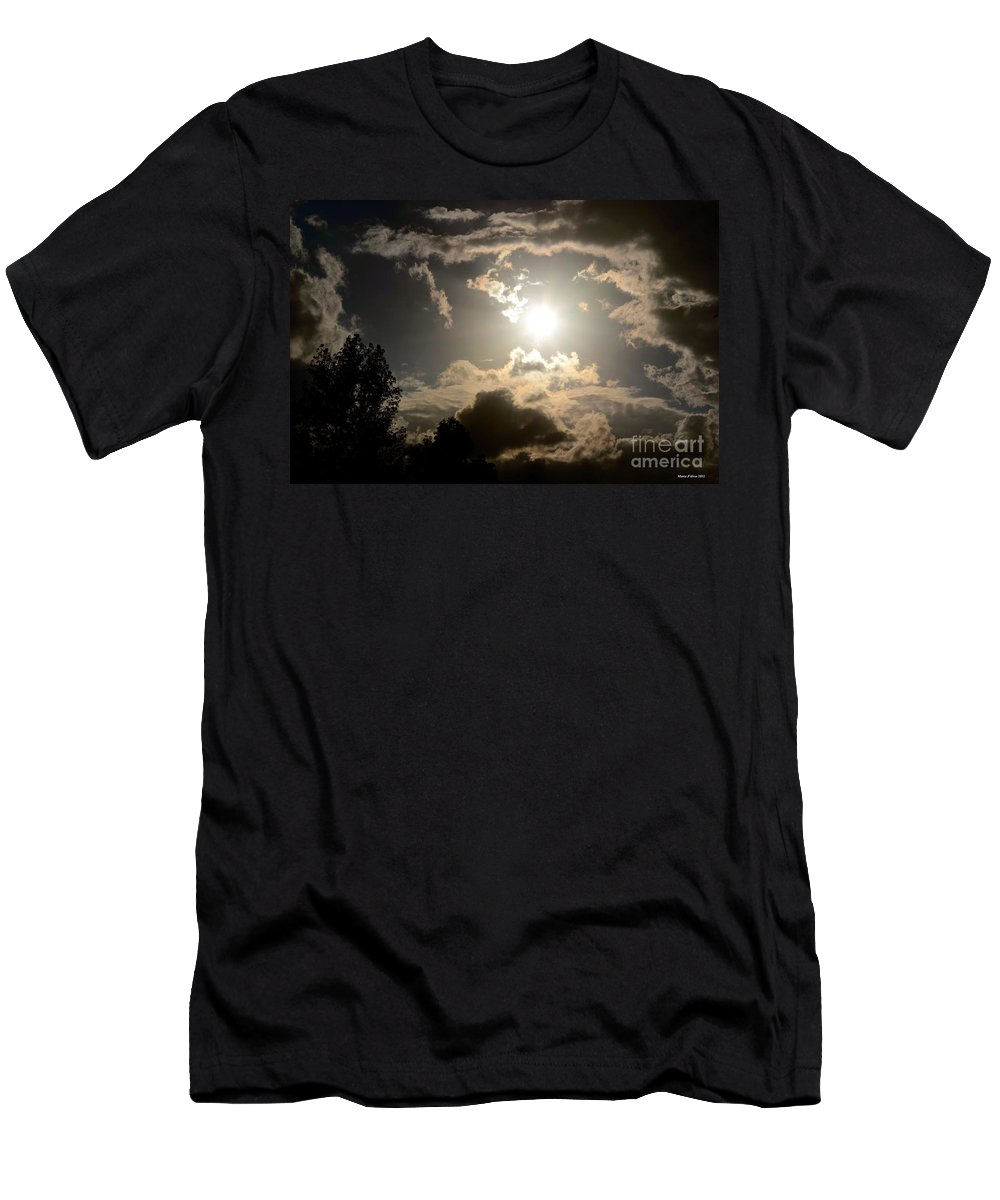 2012 Sunset October 26 Men's T-Shirt (Athletic Fit) featuring the photograph 2012 Sunset October 26 by Maria Urso