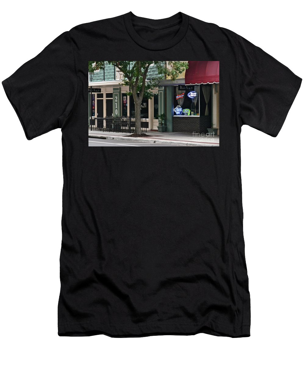 Street Scene Men's T-Shirt (Athletic Fit) featuring the photograph 210 Pine Street by Carol Bradley