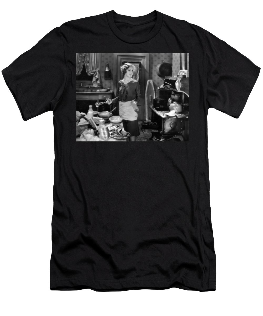 -housework & Cooking- Men's T-Shirt (Athletic Fit) featuring the photograph Silent Film Still by Granger