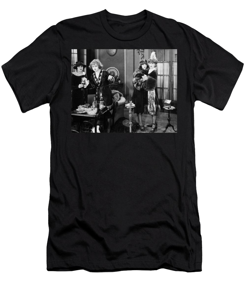 -drinking- Men's T-Shirt (Athletic Fit) featuring the photograph Silent Film Still: Drinking by Granger