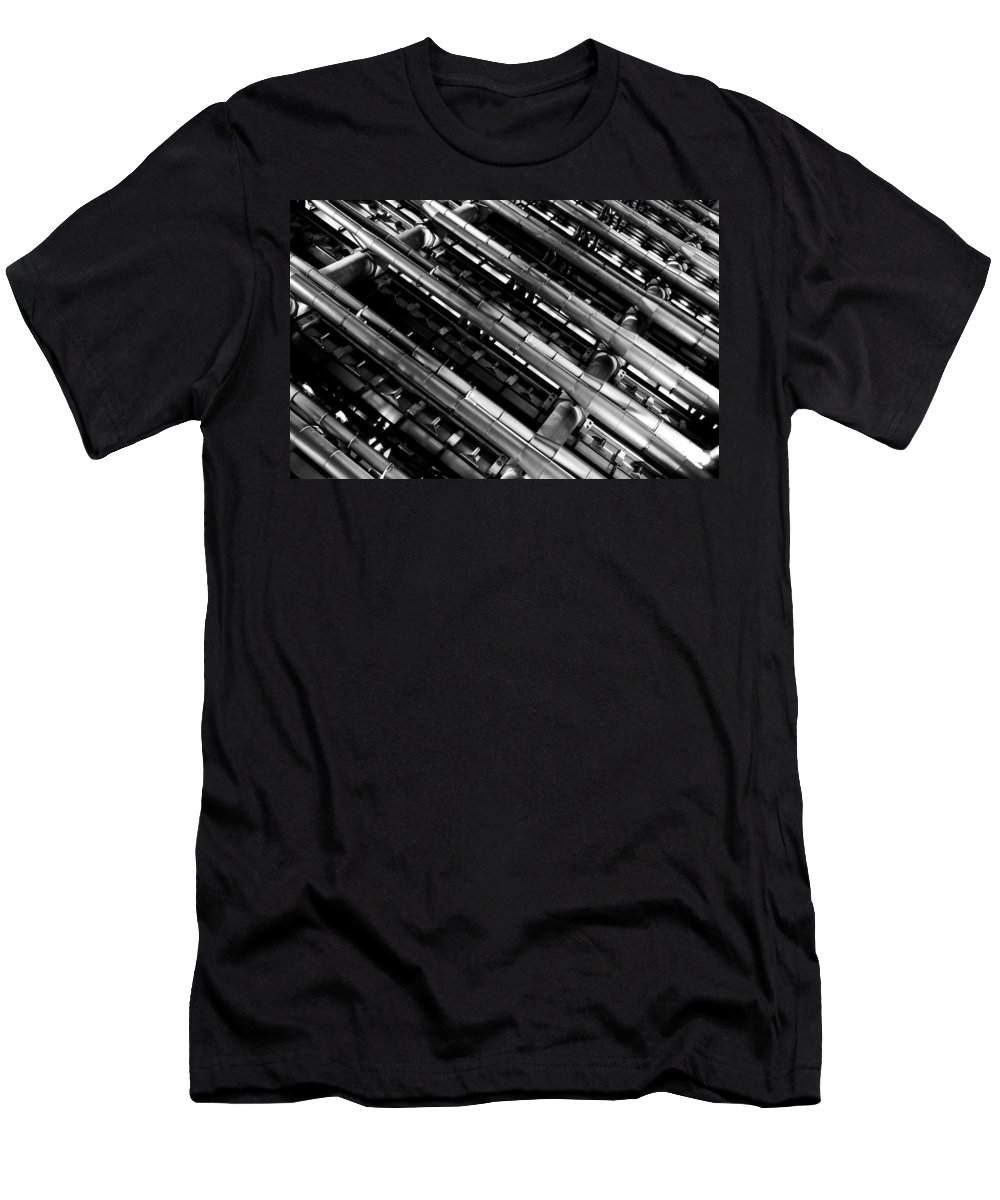 Lloyd's Men's T-Shirt (Athletic Fit) featuring the photograph Lloyd's Building London by David Pyatt