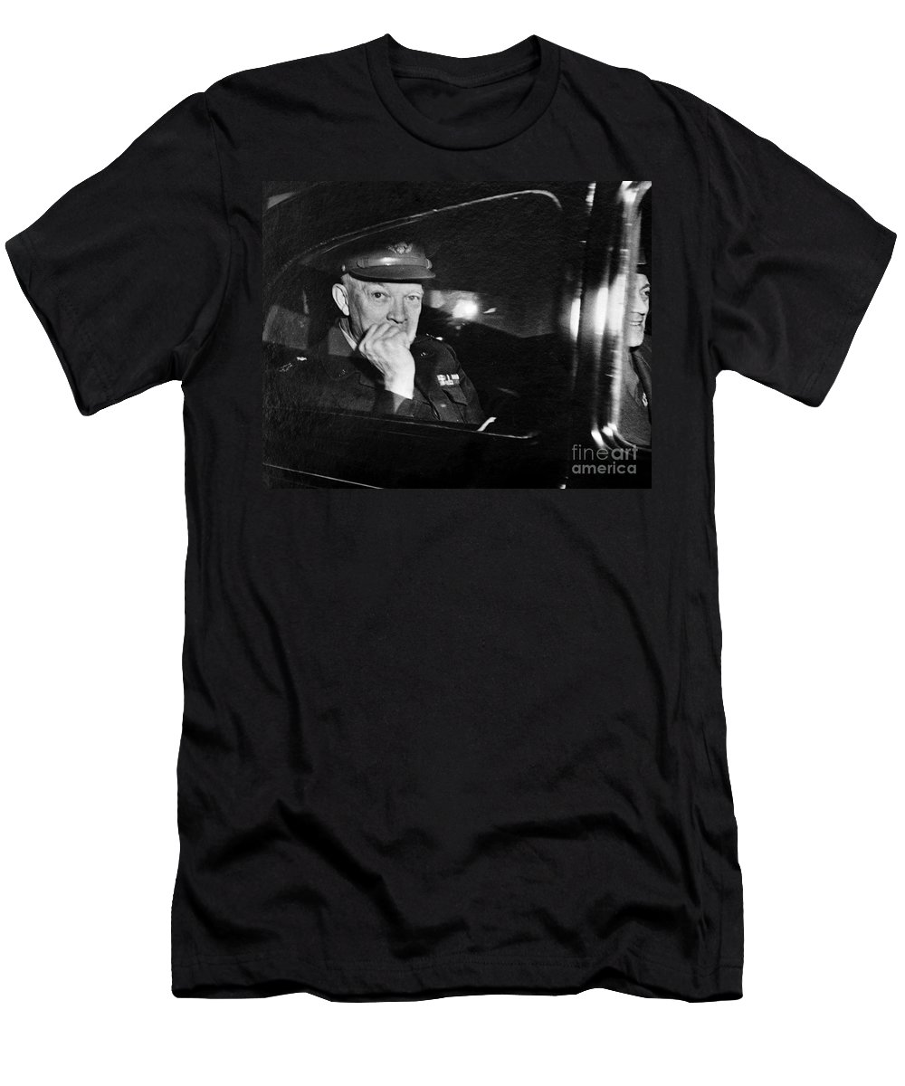 1951 Men's T-Shirt (Athletic Fit) featuring the photograph Dwight D. Eisenhower by Granger