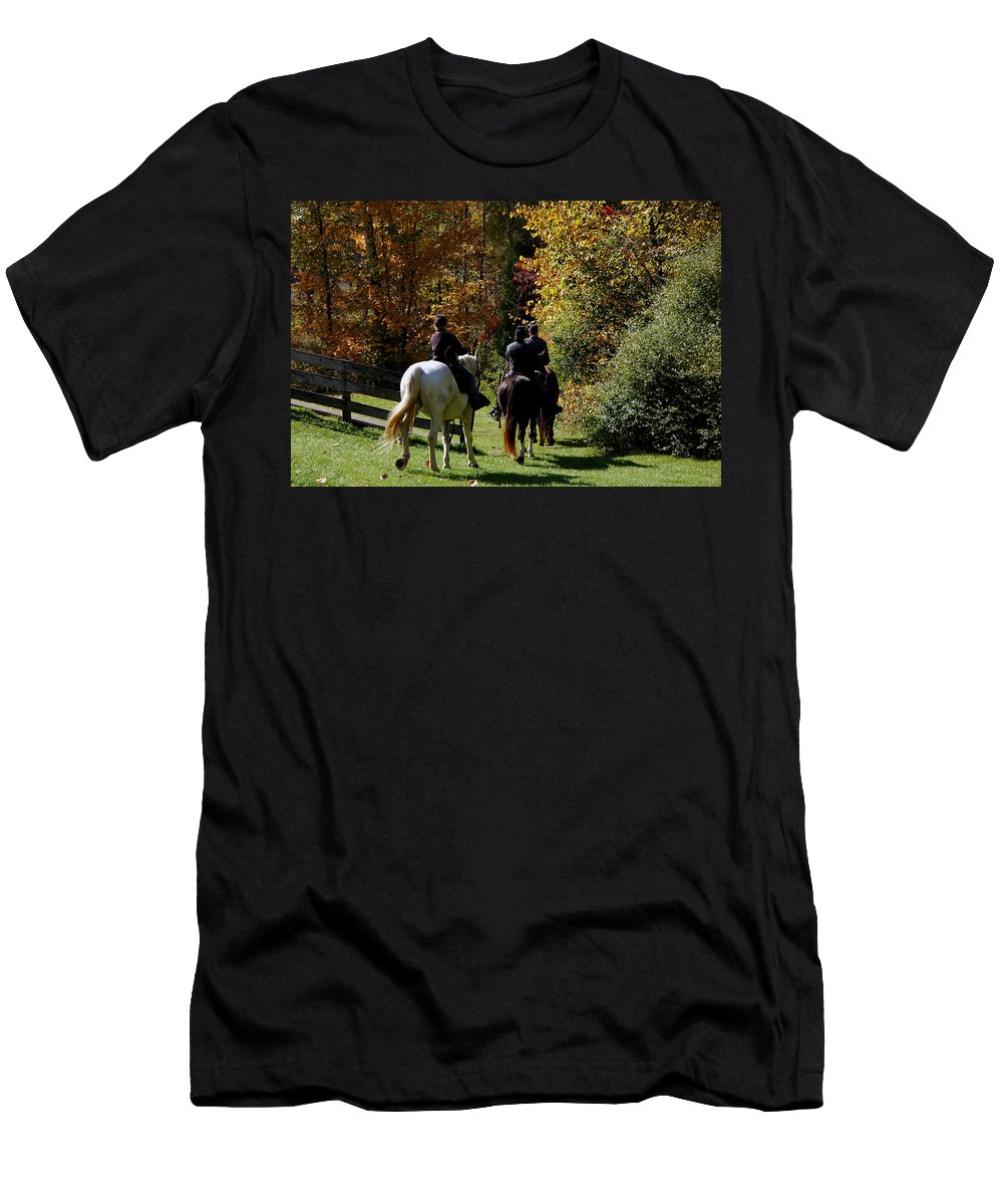 Usa Men's T-Shirt (Athletic Fit) featuring the photograph Riding Soldiers by LeeAnn McLaneGoetz McLaneGoetzStudioLLCcom