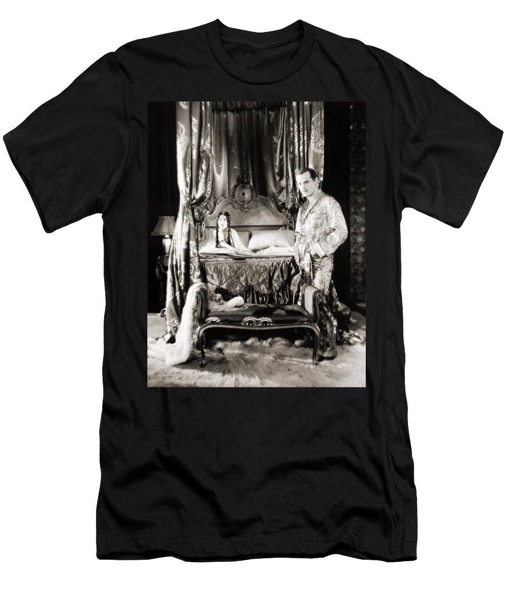 -bedrooms- Men's T-Shirt (Athletic Fit) featuring the photograph Silent Still: Bedroom by Granger