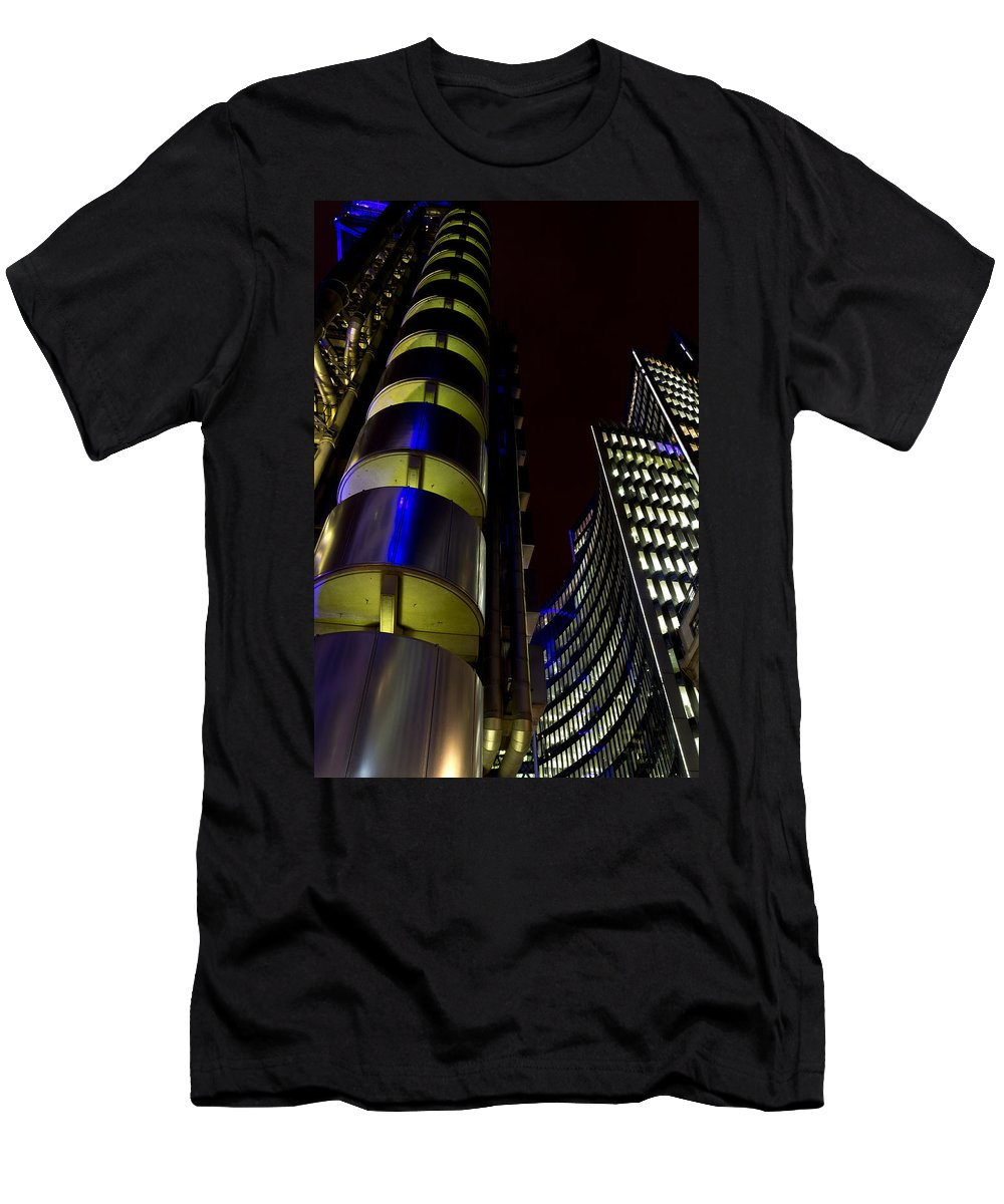 Lloyd's Men's T-Shirt (Athletic Fit) featuring the photograph Lloyd's Building London by David Pyatt