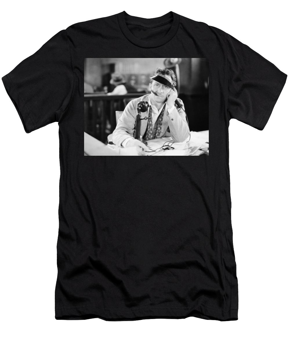 -telephones- Men's T-Shirt (Athletic Fit) featuring the photograph Film Still: Telephones by Granger