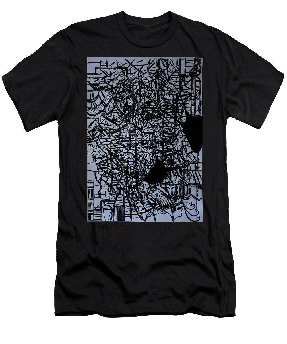 Jesus Men's T-Shirt (Athletic Fit) featuring the drawing Kintu And Nambi by Gloria Ssali