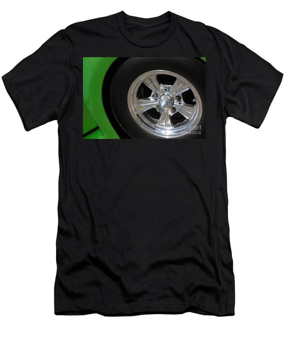 1940 Men's T-Shirt (Athletic Fit) featuring the photograph 40 Ford-driver Rear Wheel 2-8577 by Gary Gingrich Galleries