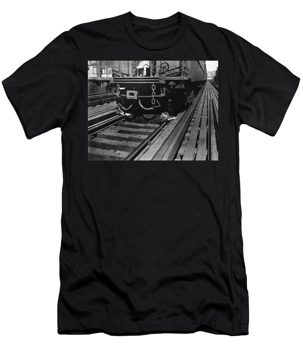 -damsel In Distress- Men's T-Shirt (Athletic Fit) featuring the photograph Damsel In Distress by Granger