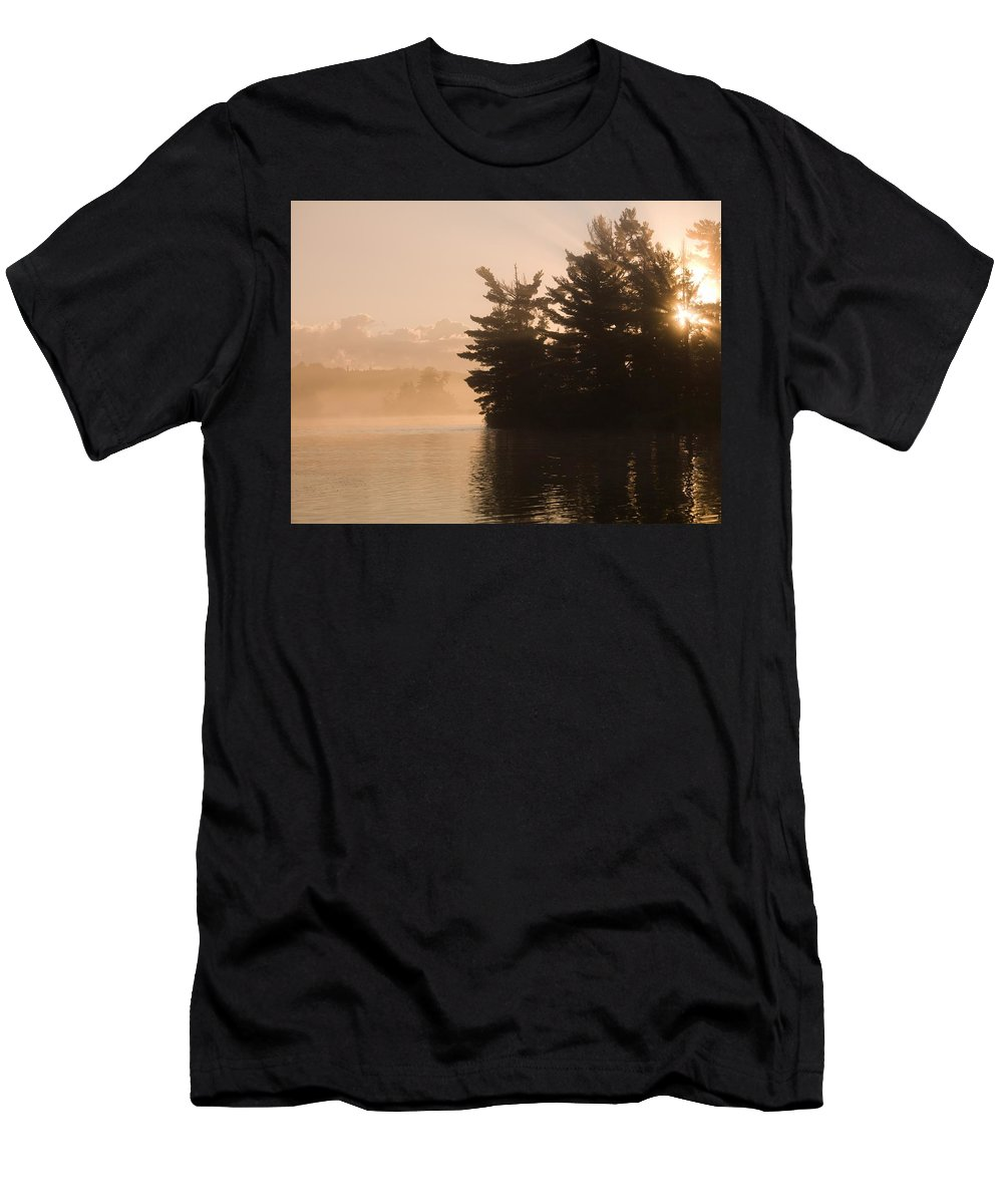 Atmospheric Men's T-Shirt (Athletic Fit) featuring the photograph Lake Of The Woods, Ontario, Canada by Keith Levit