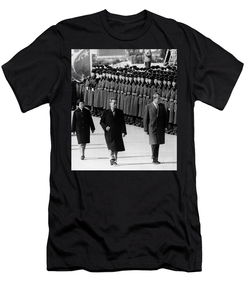 1972 Men's T-Shirt (Athletic Fit) featuring the photograph Richard Nixon (1913-1994) by Granger