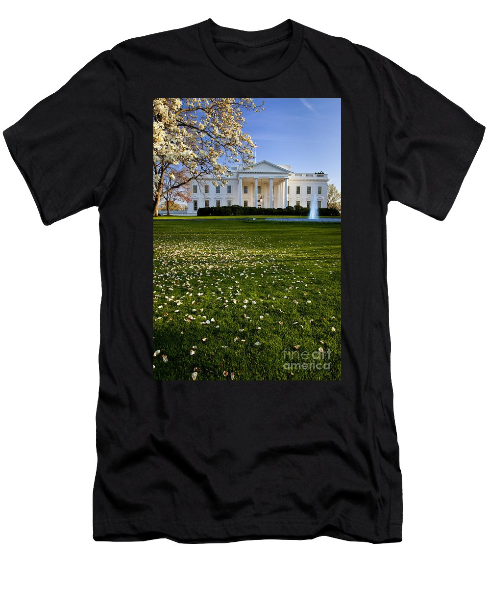 White House Men's T-Shirt (Athletic Fit) featuring the photograph The White House by Brian Jannsen