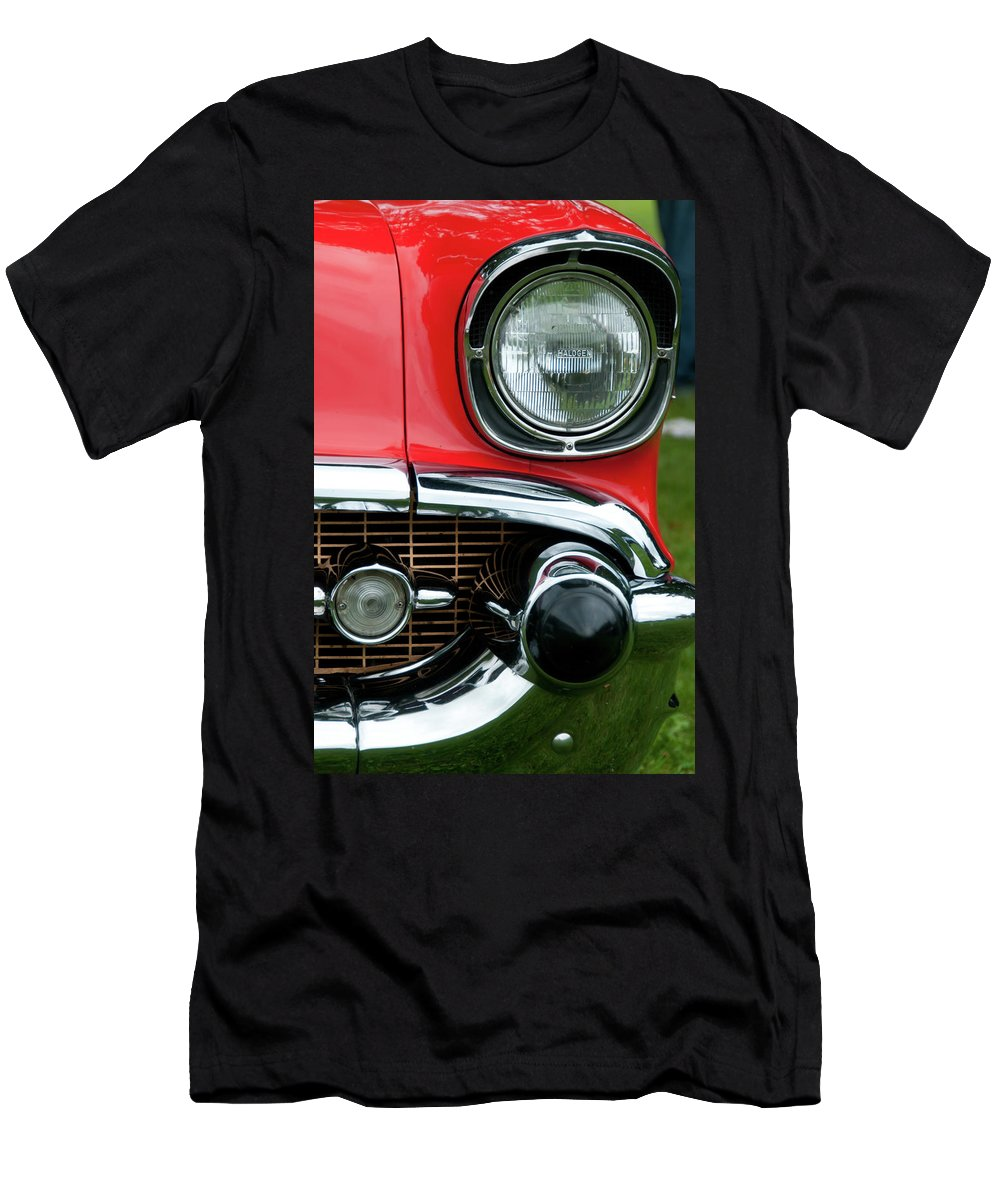 1957 Chevy Men's T-Shirt (Athletic Fit) featuring the photograph 57 Chevy Left Front 8560 by Guy Whiteley