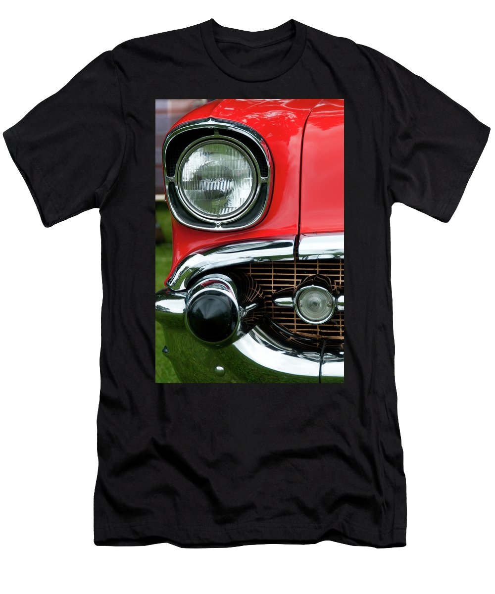1957 Chevy Men's T-Shirt (Athletic Fit) featuring the photograph 57 Chevy Right Front 8561 by Guy Whiteley
