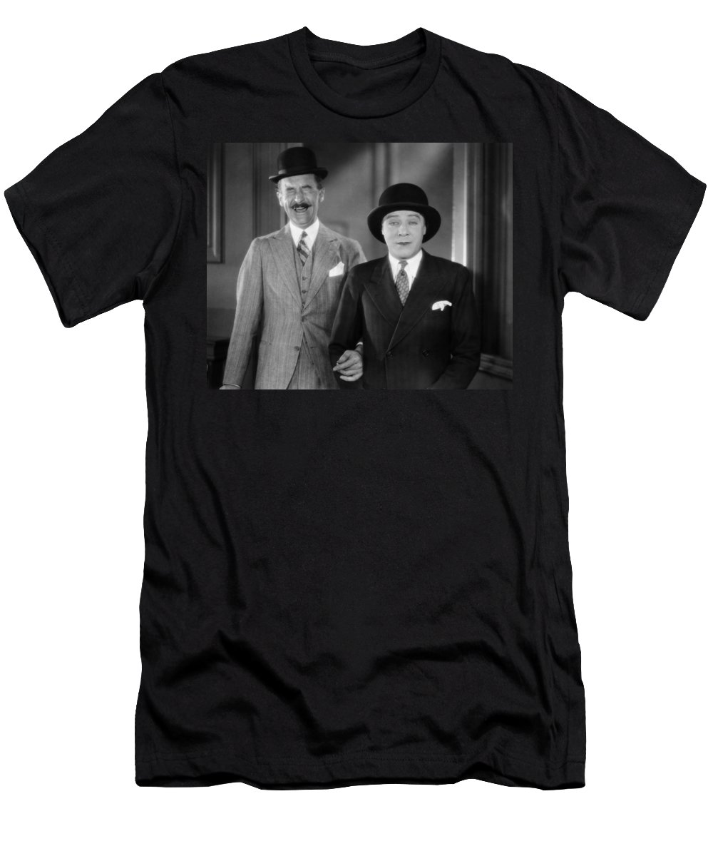 -hats- Men's T-Shirt (Athletic Fit) featuring the photograph Silent Film Still by Granger