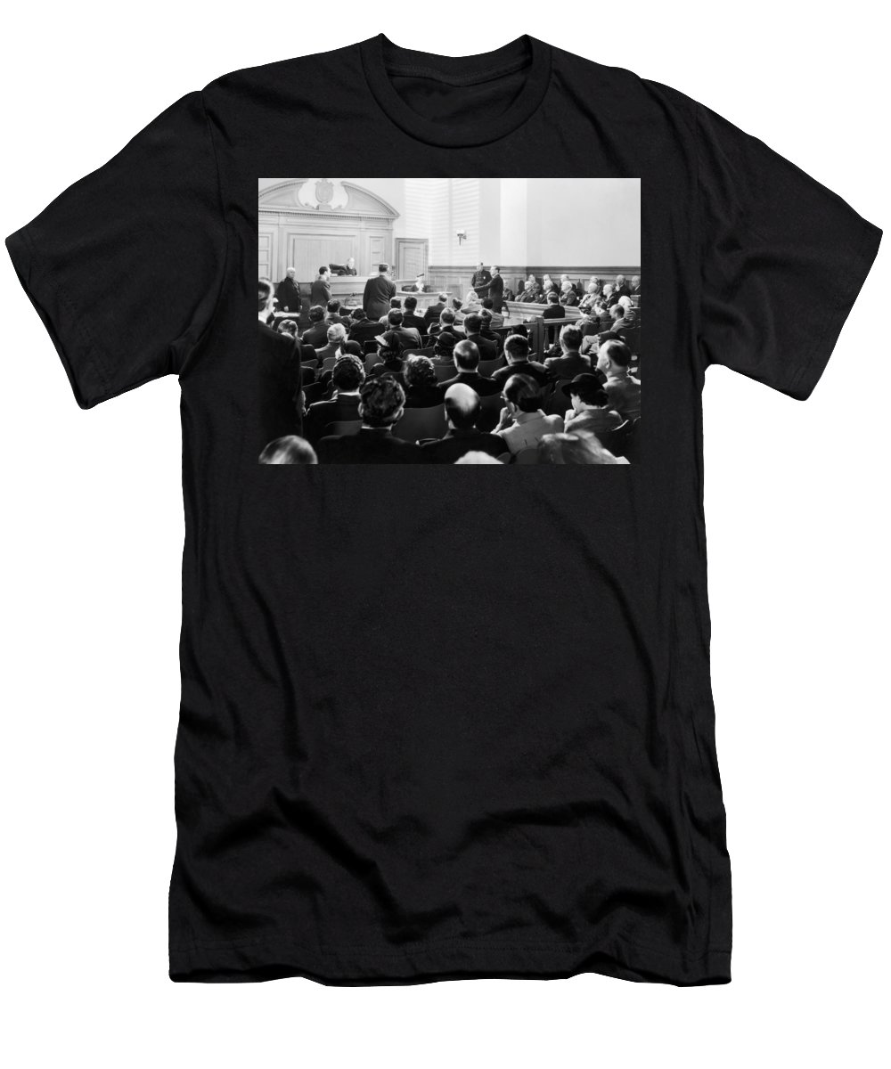 -courtroom- Men's T-Shirt (Athletic Fit) featuring the photograph Silent Still: Courtroom by Granger