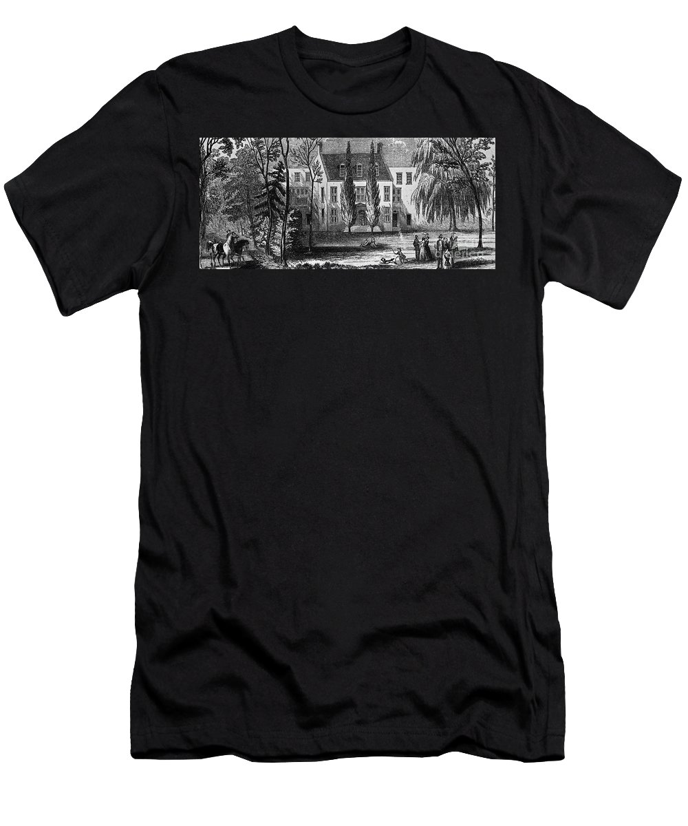 19th Century Men's T-Shirt (Athletic Fit) featuring the photograph James Buchanan (1791-1968) by Granger